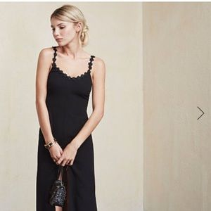 Reformation black maxi dress daisy straps